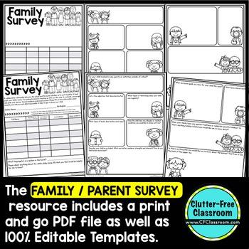PARENT SURVEY an EDITABLE PARENT COMMUNICATION TOOL