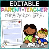 Parent Teacher Conference Form {FREEBIE-EDITABLE}