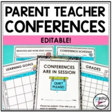 PARENT TEACHER CONFERENCE FORMS- Editable