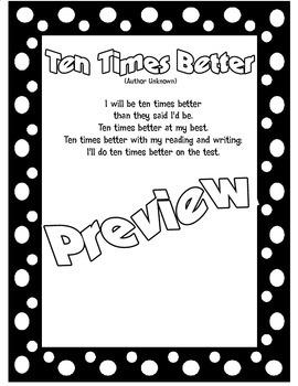 Motivational State Testing Poem: Ten Times Better