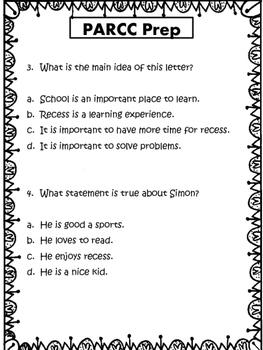 PARRC-like 3rd Grade Test Prep