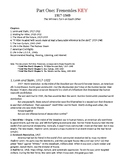 Cold War Part I. Frenemies, 1917-1949 Study Guide KEY (Timeline & Stories)