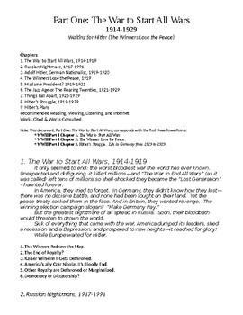 World War II, Part I: The War to Start All Wars (1914-1929) Bullet Points