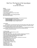 Cold War Part II. Specter of the Apocalypse, 1949-1960 Study Guide Bullet Points