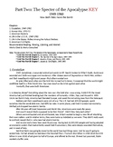Cold War Part II. Specter of the Apocalypse, 1949-1960 Study Guide KEY