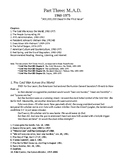 Cold War Part III. M.A.D. (1960-1975) Study Guide Bullet Points