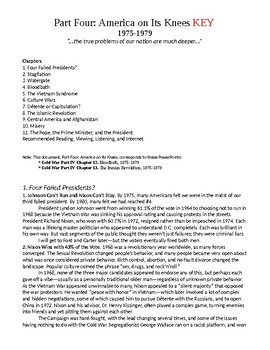 PART IV. America on Its Knees, 1975-1979 Study Guide KEY