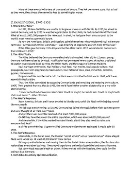 World War II, Part V: Never Again? (1945+) Study Guide KEY