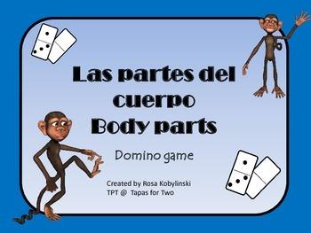 El cuerpo Las partes del cuerpo domino game