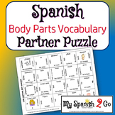 PARTNER PUZZLES--Body parts vocabulary