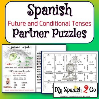 PARTNER PUZZLES--Review or Comparison of the Future Tense and Conditional Tense