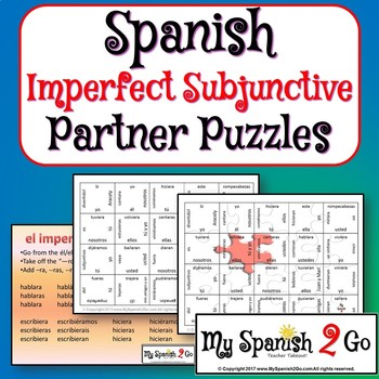 PARTNER PUZZLES--The Imperfect Subjunctive