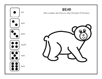 PARTS Dice Game, SPEECH THERAPY, EET
