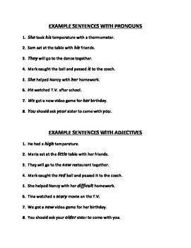 PARTS OF SPEECH: NOUN, PRONOUN, VERB, ADVERB, ADJECTIVE, & CONJUNCTION (GR. 4-6)