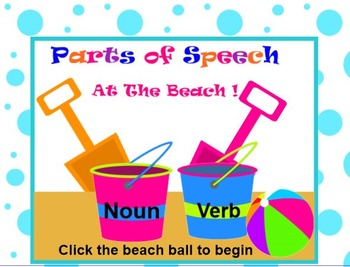 PARTS OF SPEECH At The Beach