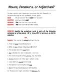PARTS OF SPEECH BUNDLE. Noun, Verb, Pronouns, Adverb, Prep