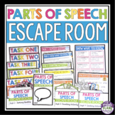 PARTS OF SPEECH ESCAPE ROOM ACTIVITY