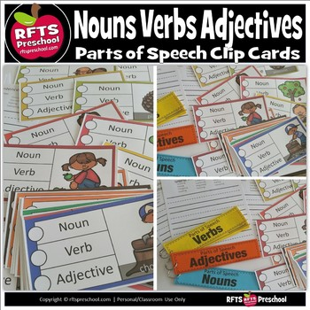 PARTS OF SPEECH: FALL THEME CLIP-a-CARD (LANGUAGE CENTER)