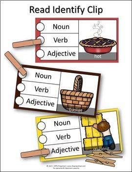 PARTS OF SPEECH: FALL THEME CLIP-a-CARD (LANGUAGE CENTER)