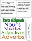 PARTS OF SPEECH File Folder Game- identify nouns, verbs, a