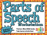 PARTS OF SPEECH Posters and Workstation Activity FREEBIE - English & Spanish