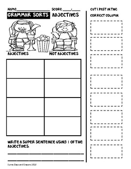 PARTS OF SPEECH SORTS AND ACTIVITIES / COOPERATIVE  LEARNING