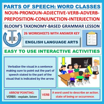PARTS OF SPEECH WORKSHEETS WITH ANSWER KEYS