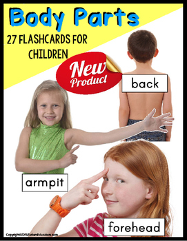 PARTS OF THE BODY Flashcards for Children