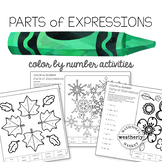 PARTS of EXPRESSIONS - color by number