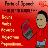 Parts of Speech ❘ Nouns ❘ Verbs ❘ Adjectives ❘ Pronouns ❘ Prepositions ❘ Bundle