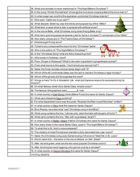 PARTY GAME: Holiday Table Trivia