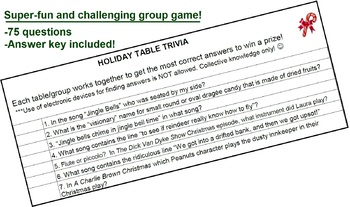 PARTY GAME: Christmas Trivia