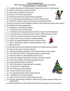 PARTY GAME: Crazy Christmas Carols