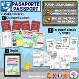 PASAPORTE VUELTA AL COLE- BACK TO SCHOOL PASSPORT- English, español- catalán.