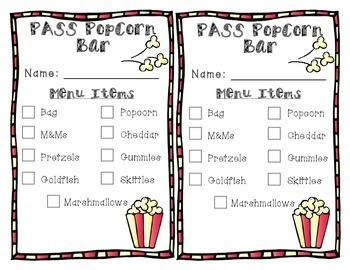 PASS Popcorn Bar Incentive