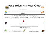 PASS TO LUNCH HOUR CLUB