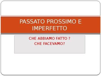 PASSATO PROSSIMO E IMPERFETTO ITALIANO DIFFERENZE