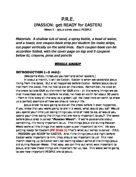PASSION: gettting READY for EASTER (P.R.E.), 4 week Sunday School Bible Series