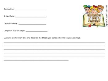 PASSPORT TO ADVENTURE BOOK REPORTS