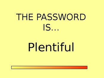 PASSWORD - AMAZING WORDS FOR READING STREETS 1.1