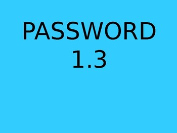 PASSWORD - AMAZING WORDS FOR READING STREETS 1.3