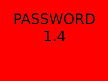 PASSWORD - AMAZING WORDS FOR READING STREETS 1.4