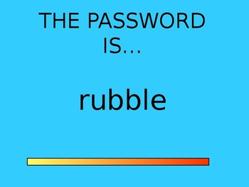 PASSWORD - AMAZING WORDS FOR READING STREETS 2.3