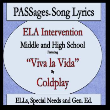 ELA Intervention ESL High School / Middle School PASSages Viva la Vida-Coldplay