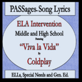 ELA Intervention ESL High School ESL Middle School PASSages Viva la Vida