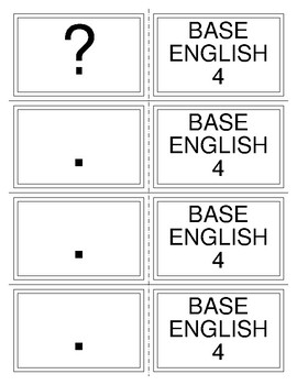PAST TENSE BOARDGAME--SENTENCE TYPE CARDS