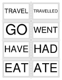PAST TENSE BOARDGAME--VERB CARDS/FLASHCARDS