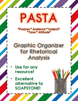 PASTA Graphic Organizer (Use for any reading)