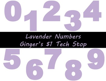 LIGHT / PASTEL PURPLE * Bulletin Board * Numbers * 0123456789 * EASTER * SPRING