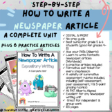 DIGITAL & PRINT How to Write a Newspaper Article BUNDLE |